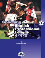 Coaching the English Professional League 4-4-2