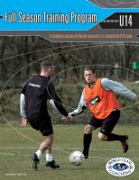 Full Season Training Program U14 - Printed